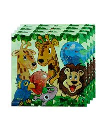 Smartcraft Birthday Party Jungle Print Paper Napkins Pack Of 20  - Green