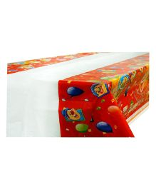 Smartcraft Happy Birthday Plastic Table Cover Clown - Multicolor