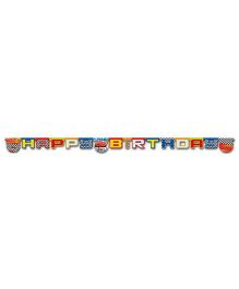 Disney Cars Happy Birthday Die Cut Banner - Cars Print