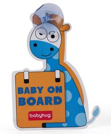 Babyhug Baby On Board Sign Giraffe - Blue