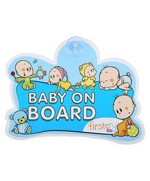 Firstcry Baby On Board Sign - Blue