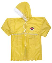 Babyhug Crystal Raincoat Car Patch - Yellow