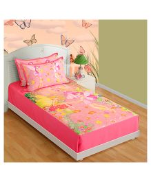 Swayam Digital Print Single Baby Bed Sheet With One Pillow Cover - Fairy Friends