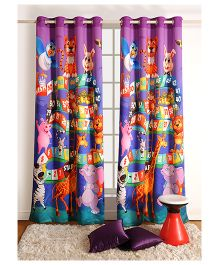 Swayam Digitally Printed Kids Window Curtain With Eyelets - Ladder