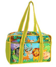 Swayam Digitally Printed Baby Bag Jungle - Multicolour