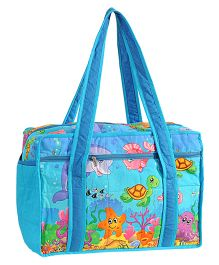Swayam Digitally Printed Baby Bag Sea Creatures - Blue