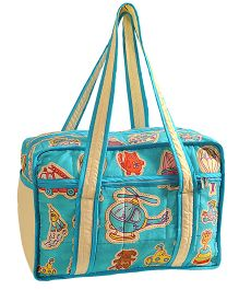 Swayam Digitally Printed Baby Bag Helicopter - Blue