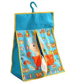 Swayam Digitally Printed Diaper Stacker Standard Size - Blue