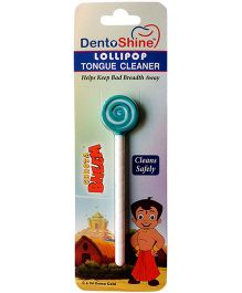 Dentoshine Chhota Bheem Lollipop Tongue Cleaner - Green And White
