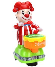 Playmate Clown With Drum Musical Toy - Red