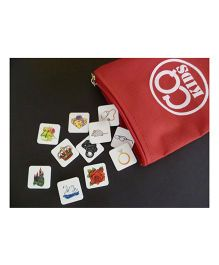 CQKids Bag-O-Tales Game - 36 Acrylic Picture Tiles