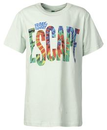 United Colors of Benetton T-Shirt Escape Print - White