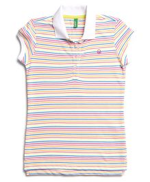 United Colors Of Benetton Polo T-Shirt - Multi Colored Stripes