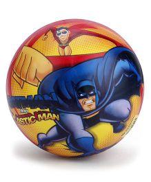 DC Comics Batman Print Kid's Ball - Yellow And Blue