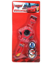 Disney Pixar Car Digital Watch With Shooter Discs - Red