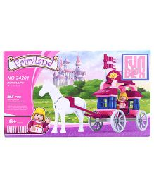 Fun Blox Carriage Bricks Set - 57 Pieces