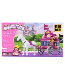 Fun Blox Fairyland Bricks And Block Set Carriage - 57 Pieces