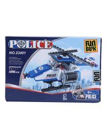 Fun Blox Police Air Plane Construction Set - 126 Pieces
