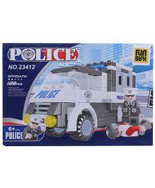Fun Blox Police Blocks Set - 128 Pieces