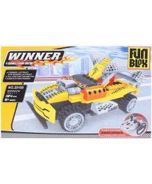 Fun Blox Remote Controlled Car Blocks Set Yellow - 194 Pieces