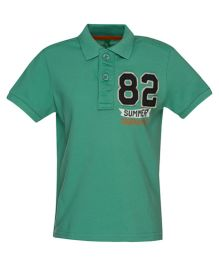United Colors of Benetton Polo T-Shirt 82 Patch - Green