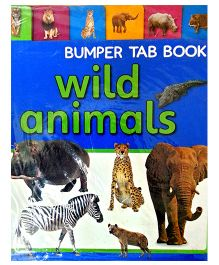 Bumper Tab Book Wild Animals - English
