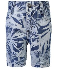 United Colors Of Benetton Floral Print Shorts - Navy Blue
