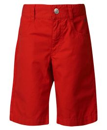 United Colors of Benetton Three Fourth Shorts - Dark Red