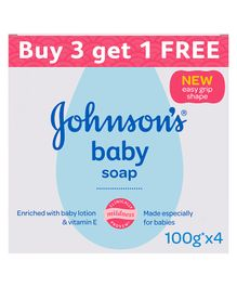 Johnson's baby Soap Pack of 4 - 100 Grams Each