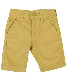 United Colors Of Benetton Solid Color Shorts - Yellow