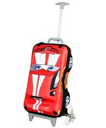 T-Bags Hunter Car Design Trolley Bag Red - 17 Inches