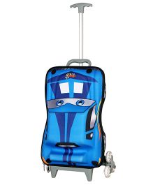 T-Bags Hunter Car Design Trolley Bag Blue - 17 Inches