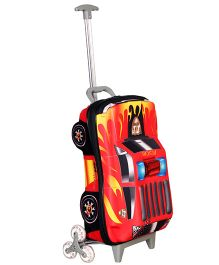 T-Bags Police Car Design Trolley Bag Red - 16.5 Inches
