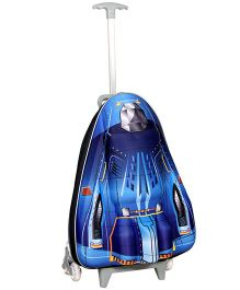 T-Bags Space Shuttle Design Trolley Bag Blue - 17 Inches