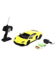 Mitashi Dash RC Rechargeable Lamborghini Aventador LP720-4 Car - Yellow