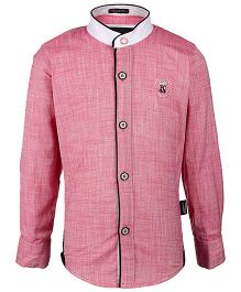Finger Chips Mandarin Collar Shirt FC Club Logo - Pink