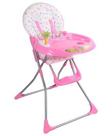 High Chair With Tray And Footrest - Pink