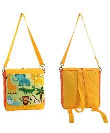 Swayam Digitally Printed Kids Backpack With Zipper Closing