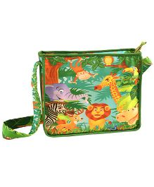 Swayam Digitally Printed Kids Satchel Bag With Zipper Closing