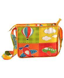 Swayam Digitally Printed Kids Satchel Bag With Zipper Closing