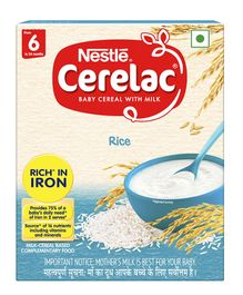 Nestle Cerelac Stage 1 Fortified Baby Cereal Rice - 300 gm