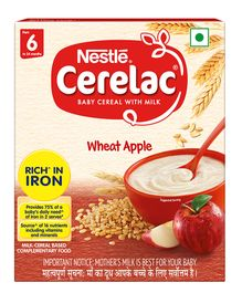 Nestle Cerelac Stage 1 Fortified Baby Cereal Wheat Apple - 300 gm