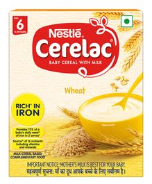 Nestle Cerelac Stage 1 Fortified Baby Cereal Wheat - 300 gm