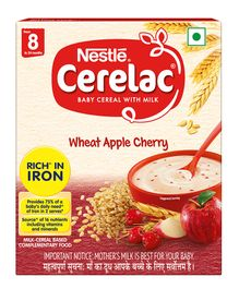 Nestle Cerelac Stage 2 Fortified Baby Cereal Wheat Apple Cherry - 300 gm