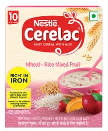 Nestle Cerelac Baby Cereal Wheat Rice Mixed Fruit Stage 3 - 300 grams