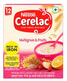 Nestle Cerelac Fortified Baby Cereal With Milk Multi Grain & Fruits - 300 gm