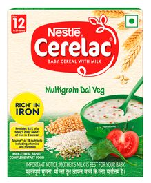 Nestle Cerelac Fortified Baby Cereal With Milk Multi Grain Dal Veg - 300 gm