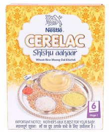 Nestle Cerelac Shishu Aahaar Wheat Rice Moong Dal Khichdi Stage 1 - 300 gm