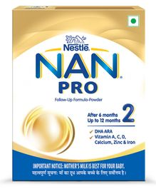 Nestle Nan Pro Stage 2 Follow Up Formula  Bib - 400 gm