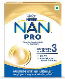 Nestle NAN PRO 3 Follow Up Formula Bib 24 x 400 g In